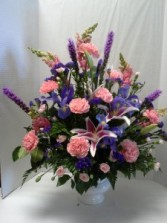 Pink and Blue Urn