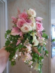 Pink and Blush Cascading Bridal Bouquet Cascading Bridal Bouquet