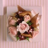 Pink and  Brown Wrist Corsage Prom or Graduation Flowers DC