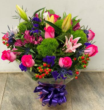 Pink and green arrangements Birthday