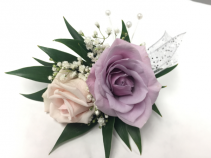 Pink and lavender mixed Boutonnière