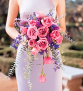 Pink and Lavender Rose  Bridal Bouquet