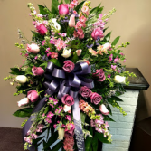 Pink and lavender Tribute  Standing Spray