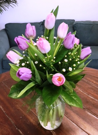 Assorted Spring Tulips Arrangement