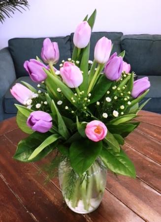 Assorted Spring Tulips Arrangement