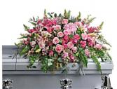 Pink and pastel casket spray  Casket Spray