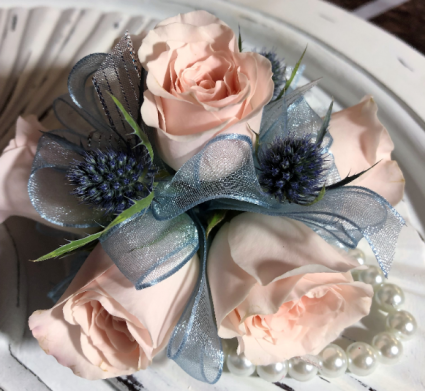 Pink and Pearls Corsage