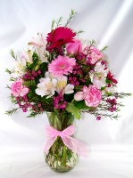 Pink and Perfect Vase Arrangement