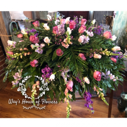 Pink and Purple Casket Cover