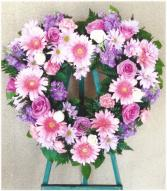 Pink and Purple Heart  Heart Wreath