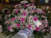 Pink and Purple Mix (TB 19) Funeral Basket