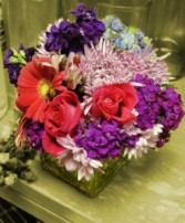 Pink and Purple Paradise Contemporary Arrangement