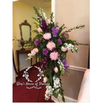 Pink and Purple Standing Spray