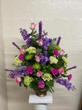 Pink and Purple Urn Arangemnt
