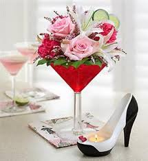 Pink and Red Martini