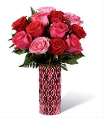 Pink and Red Rose Bouquet Love Arrangement