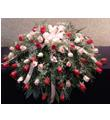 Pink and Red Rose Casket Spray