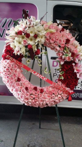 PINK AND RED WREATH JUMBO