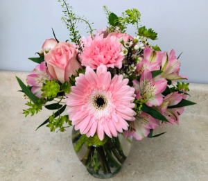 Pink and Sweet All Around Vase in Wildwood Crest, NJ | MARIE'S FLOWER SHOPPE