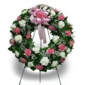 Pink and White Carnation Wreath