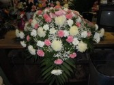 Pink and White (C16) Casket Spray