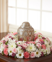 Pink and White Cremation - 645 Funeral arrangement
