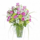 Pink and White Elegance  Vased Arrangement