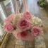 Pink and white flower purse