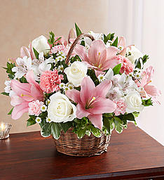 Pink And White Healing Tears Floral Arrangement in Winston Salem, NC | RAE'S NORTH POINT FLORIST INC.