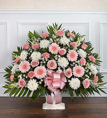 Pink and White Heartfelt Tribute