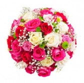 Pink and White Lavish Roses Rose Bouquet