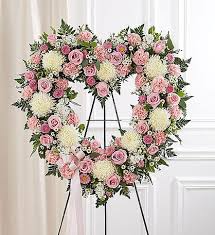 PINK AND WHITE OPEN HEART WAS 255.00. NOW $185.00