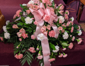 Pink and white Peaceful Casket Spray