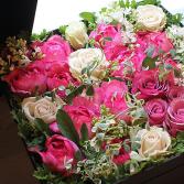 Pink and white roses  Keep sake gift box