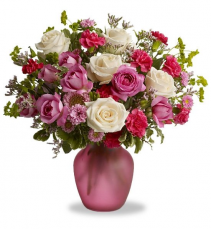 Pink and White roses Valentines