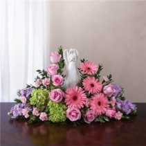 Pink and White Serenity Angel Arrangement