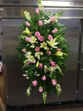 Pink and White Standing Sprays
