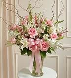Pink and White Sympathy Vase