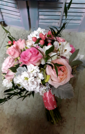 Pink and whites Wedding Bouquet