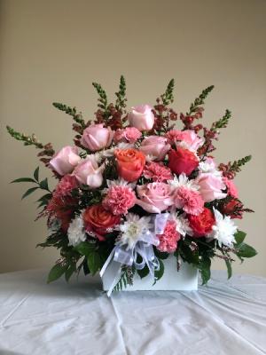 Pink arrangement Arrangement in Calgary, AB | Posh Flowers Ltd