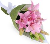 PINK  ASIATIC  GIFT WRAPS BOUQUET