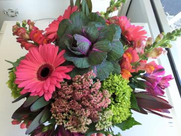 Pink Autumn Vase Arrangement