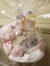 Pink Bearington Bear Basket gift basket