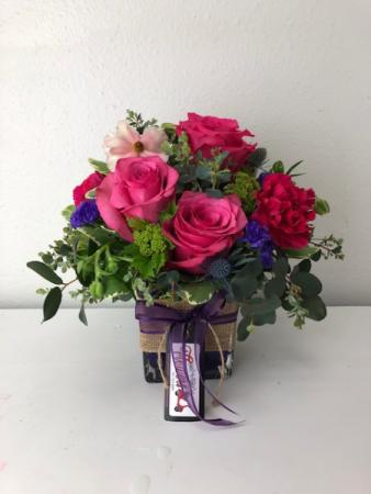 Magnificent Magenta Vase Arrangement