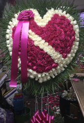 PINK BIG HEART  FUNERALS