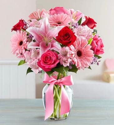 Pink Birthday Flower Arrangement