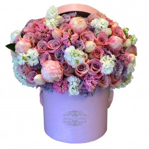 Pink Blush Flower Box in Riverside, CA | RIVERSIDE BOUQUET FLORIST