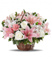 Pink Blessings Basket Arrangement