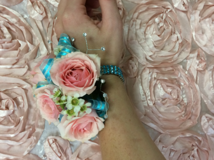 pink bliss corsage
