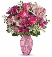 Pink Bliss vase arrangement